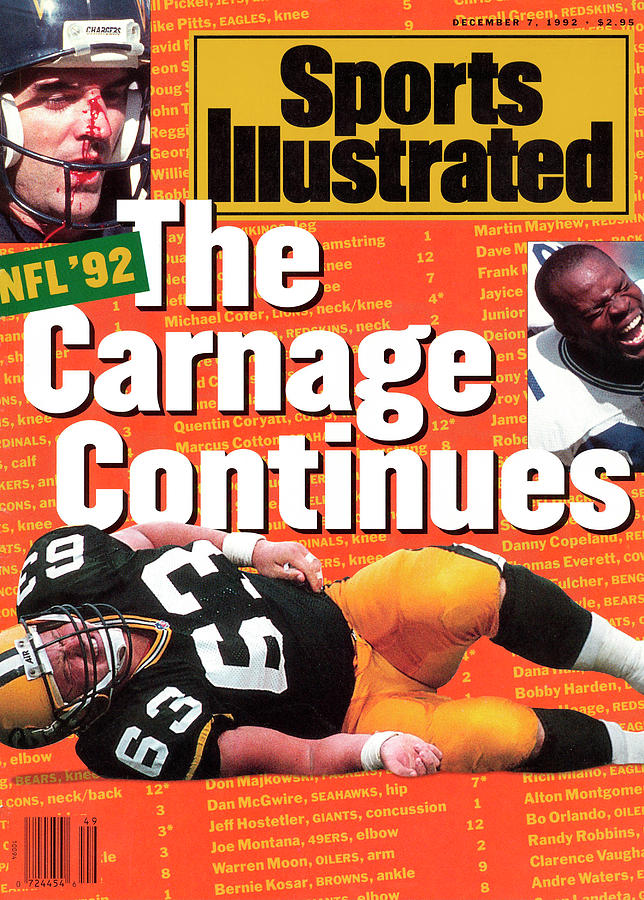 Nfl Football The Carnage Continues Sports Illustrated Cover Photograph by Sports Illustrated
