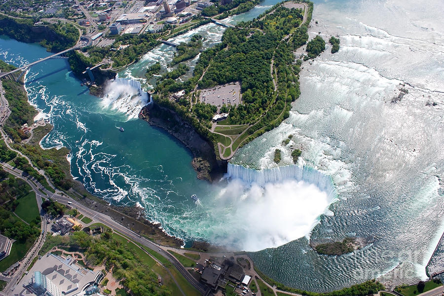 Violent Photograph - Niagara Falls American And Canadian by Jiratthitikaln Maurice