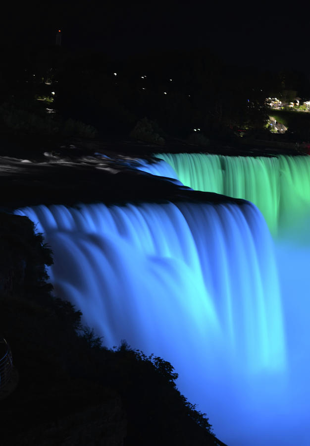 Niagara Falls At Night by Aimee L Maher ALM GALLERY
