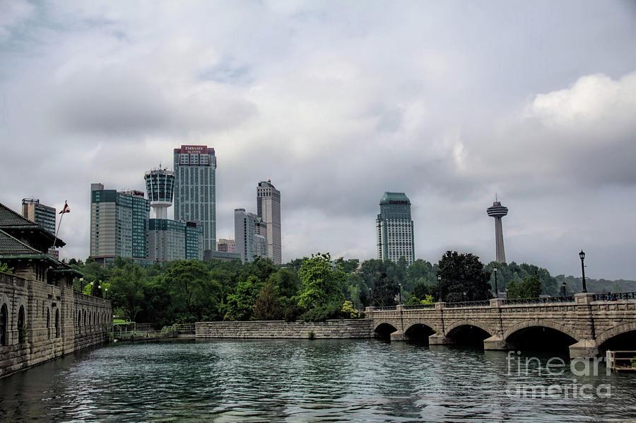 Niagara Falls Ontario Canada skyline by Jim Lepard