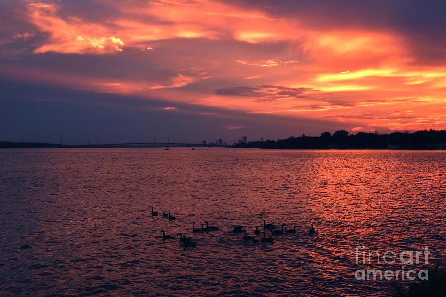 Niagara River Sunset Of June 28, 2019 by Sheila Lee