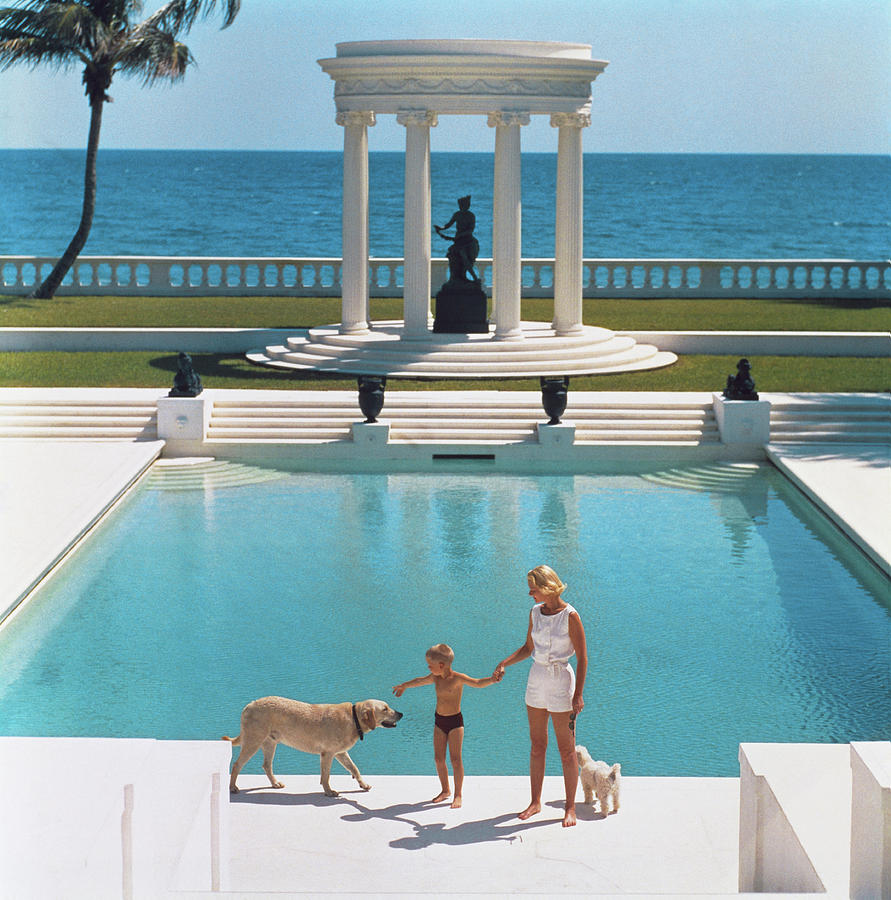 Nice Pool Photograph by Slim Aarons
