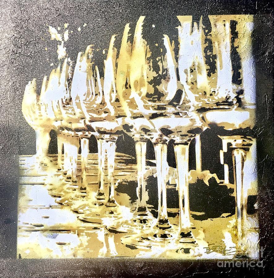 Wine Pyrography - Nice Stems by Brandi Pfleider