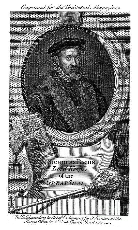 Nicholas Bacon 1509-1579, English Drawing by Print Collector