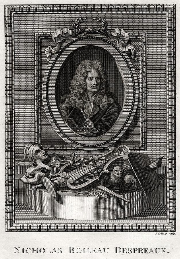 Nicholas Boileau Despreaux, 1775 Drawing by Print Collector