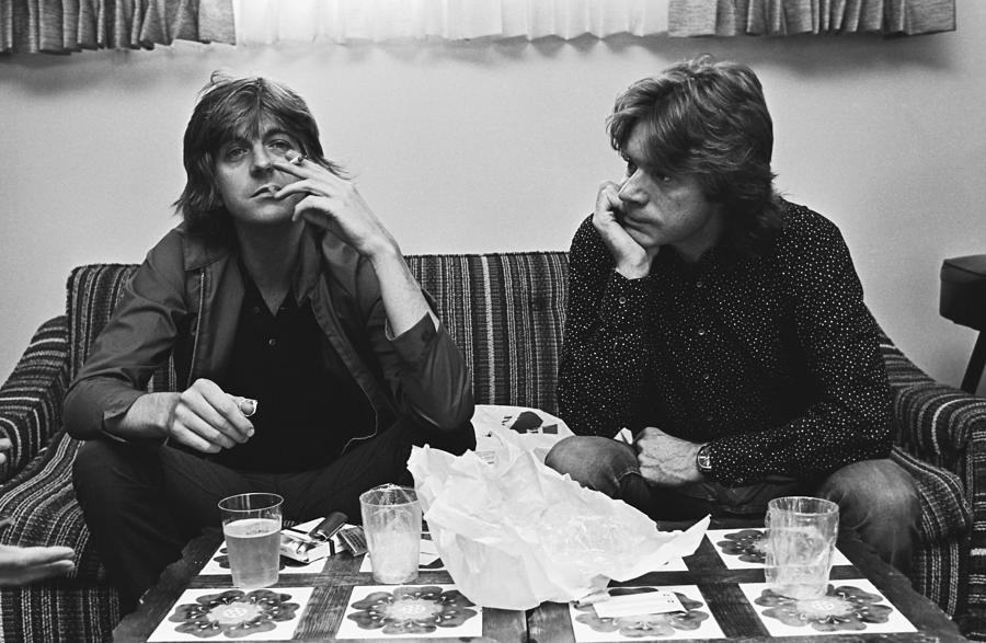 Nick Lowe & Dave Edmunds Portrait Photograph by George Rose