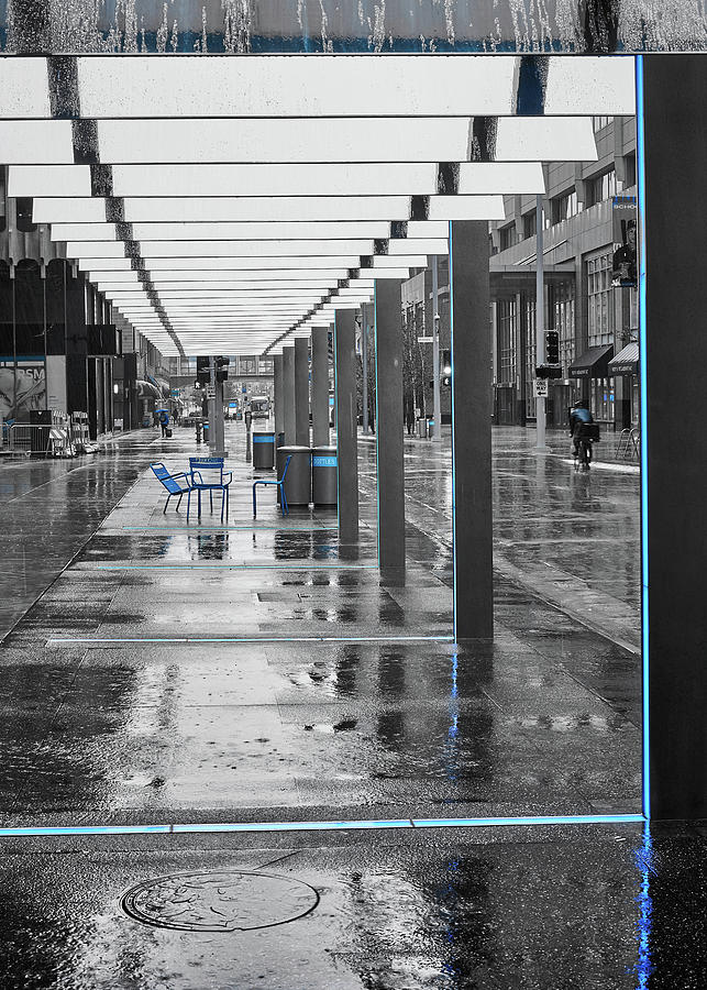 Nicollet Mall In The Rain by Jim Hughes