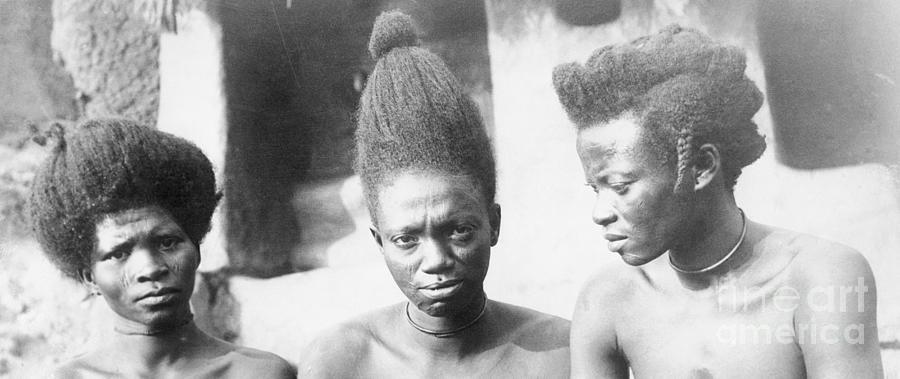 Nigerian Women Wearing Native Hairstyles Photograph by Bettmann