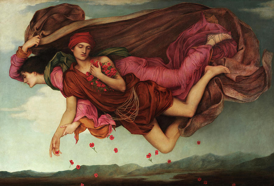 Evelyn De Morgan Painting - Night And Sleep, 1878 by Evelyn De Morgan