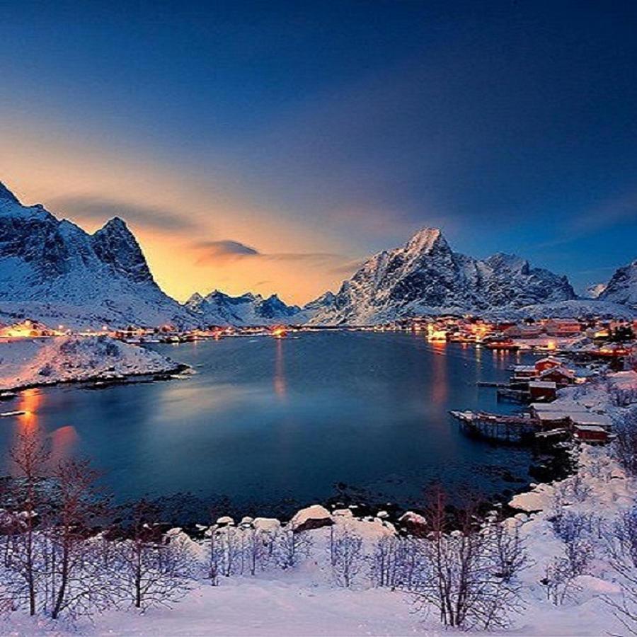 Night Approaching In Norway by Rod Jellison