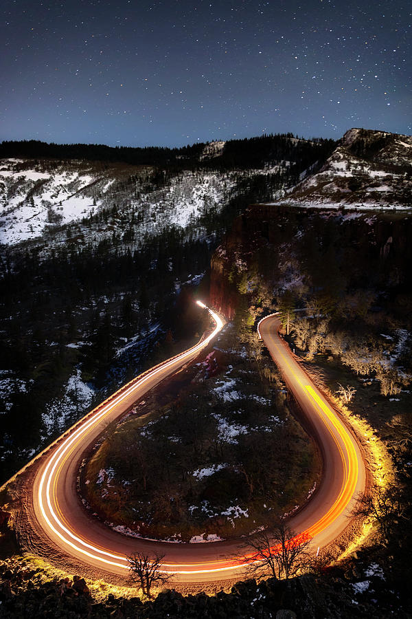 Night Photograph - Night At Rowena Crest by Cat Connor