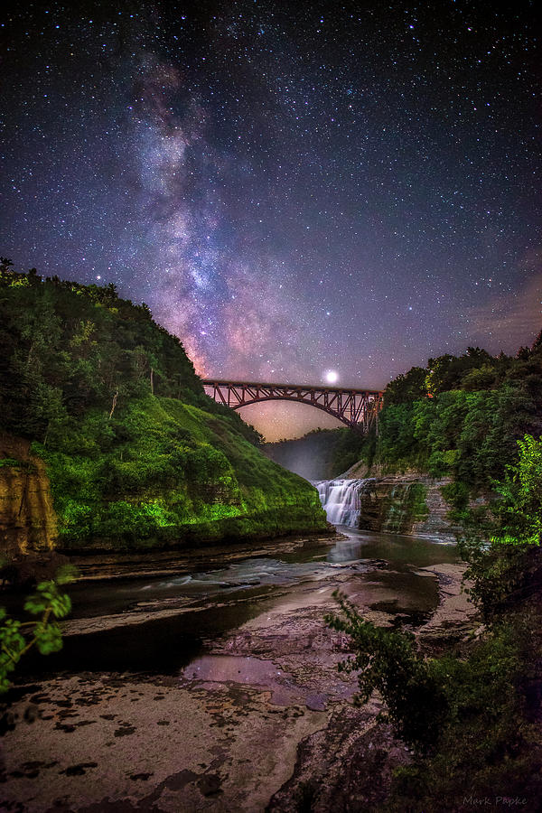 Night at Upper Falls by Mark Papke