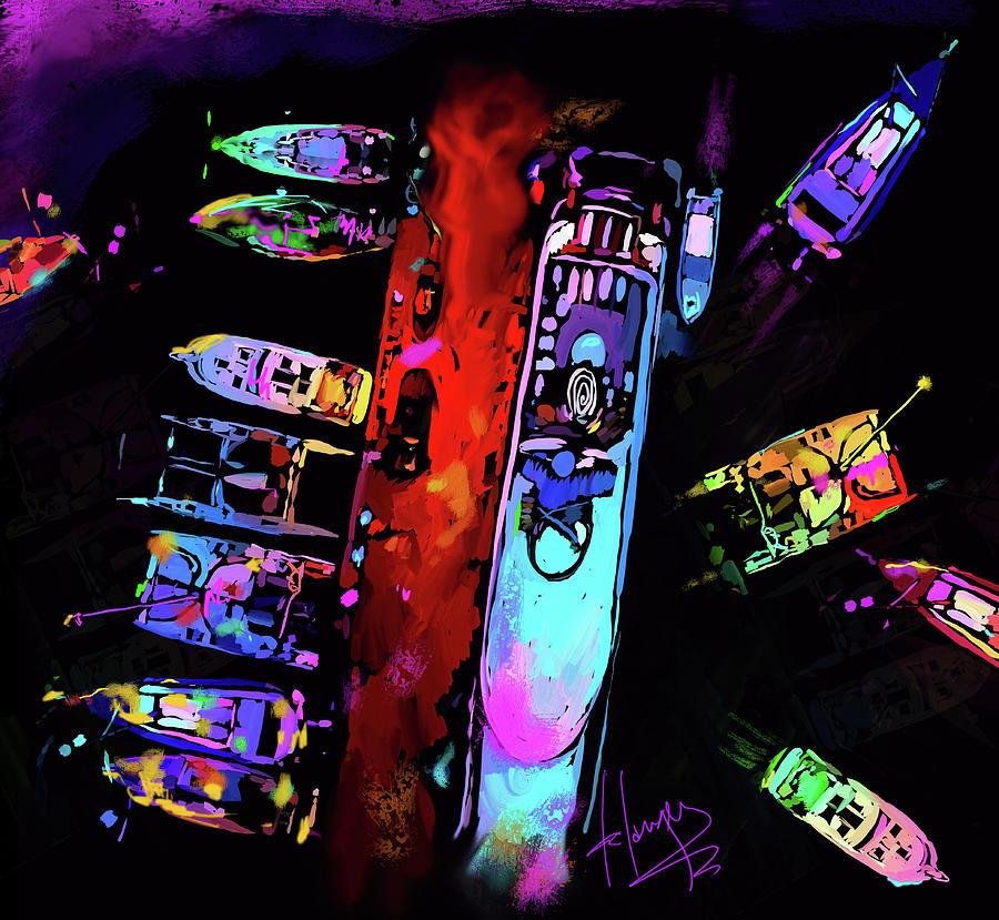 Midnight Pier by DC Langer