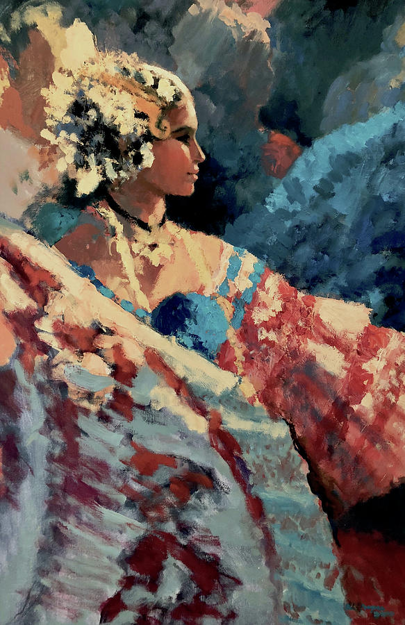 Panama Painting - Night Dancers by Al Sprague