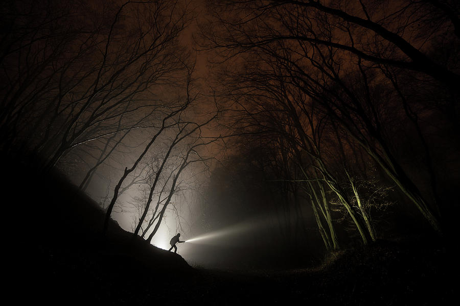 Night Photograph - Night Explorer by Mat�� Lo�onsk�