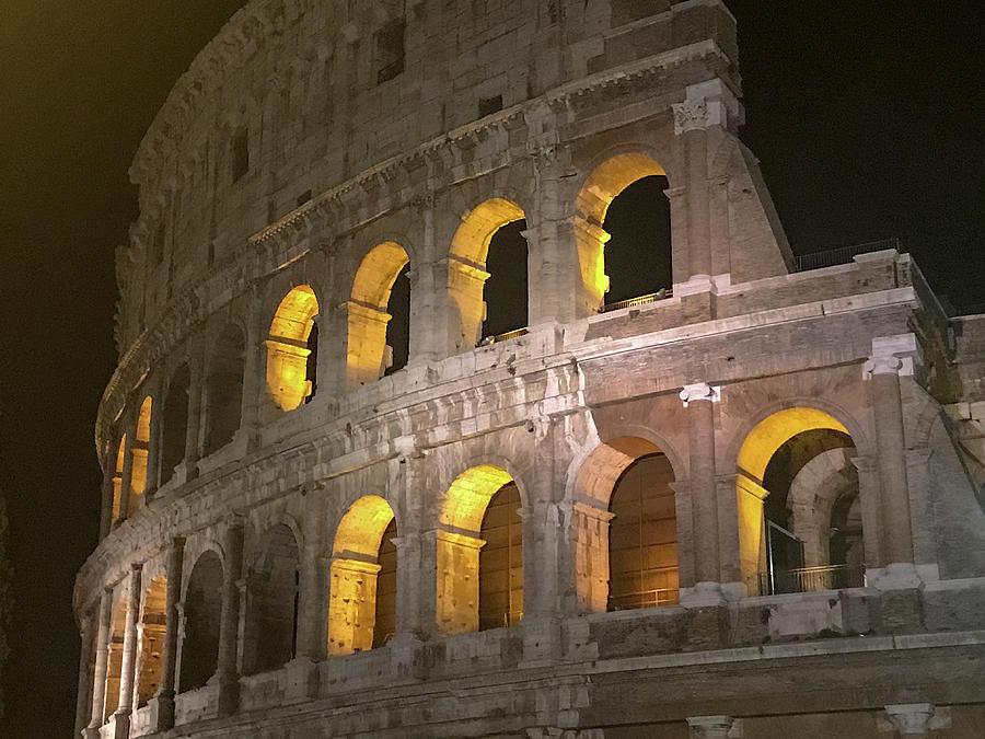 Colosseum Photograph - Night Glow by Joseph Yarbrough