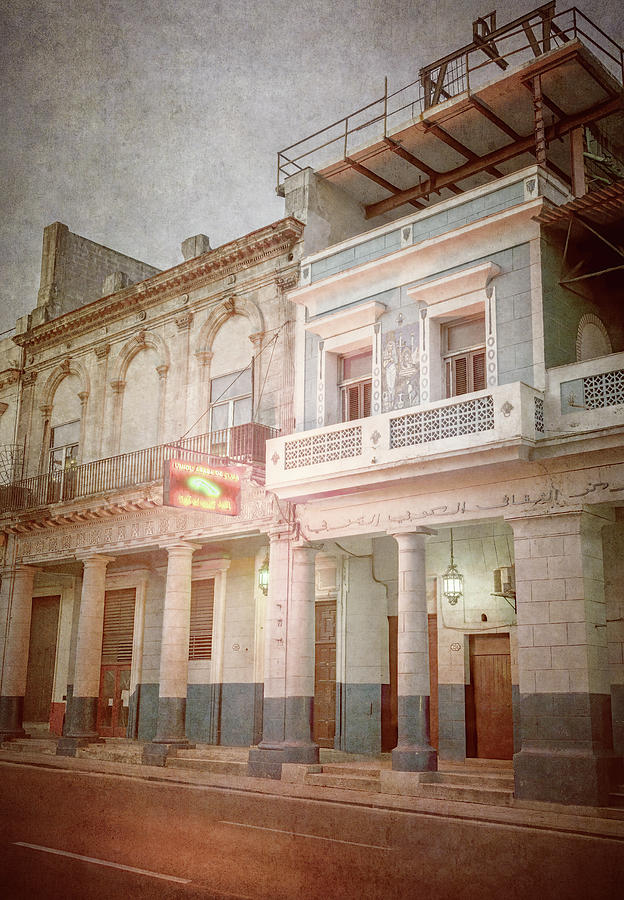 Night Illumination Havana Cuba by Joan Carroll