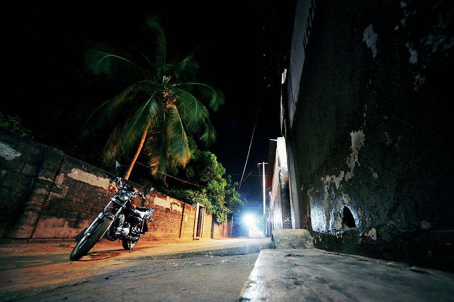 Night In African Town Photograph by Peeterv