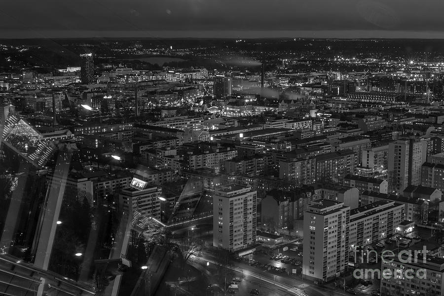 Architecture Photograph - Night In Tampere by Tapio Koivula