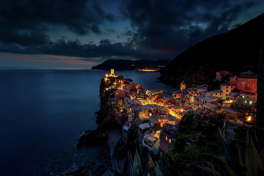 Landscape Photograph - Night In Vernazza by Andrei Dima