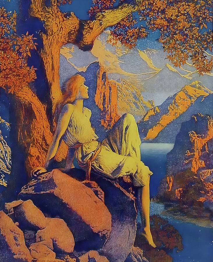 Maxfield Parrish Photograph - Night Is Fled by Maxfield Parrish