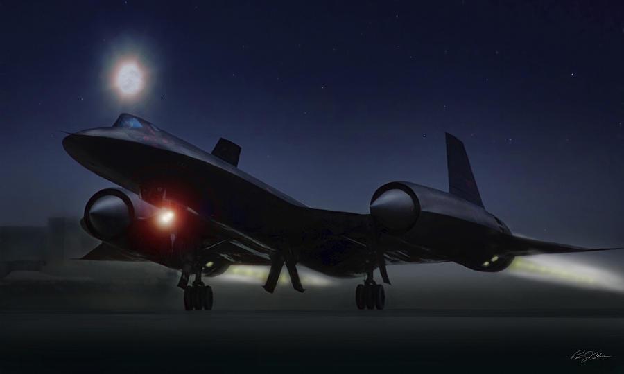 Aviation Digital Art - Night Launch by Peter Chilelli