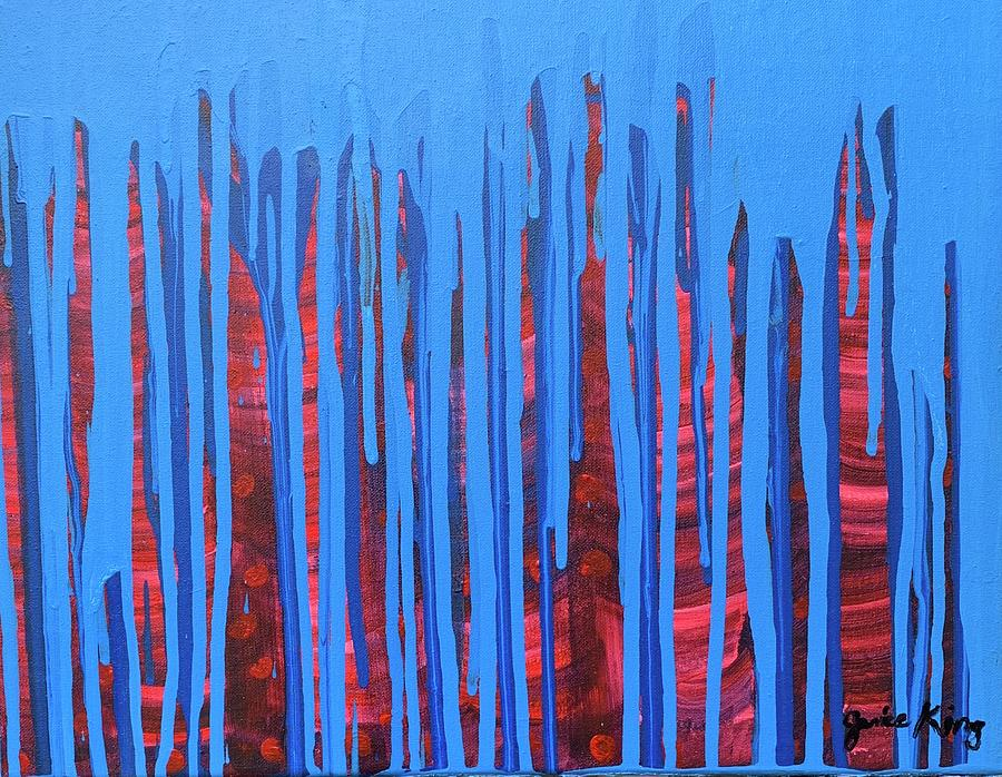 Abstract Painting - Night Life by Janice King
