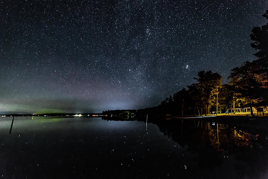 Night Magic Higgins Lake South State Park by Joe Holley