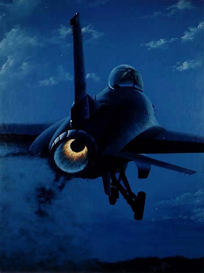 Aircraft Painting - Night Moves by Peter Ring Sr