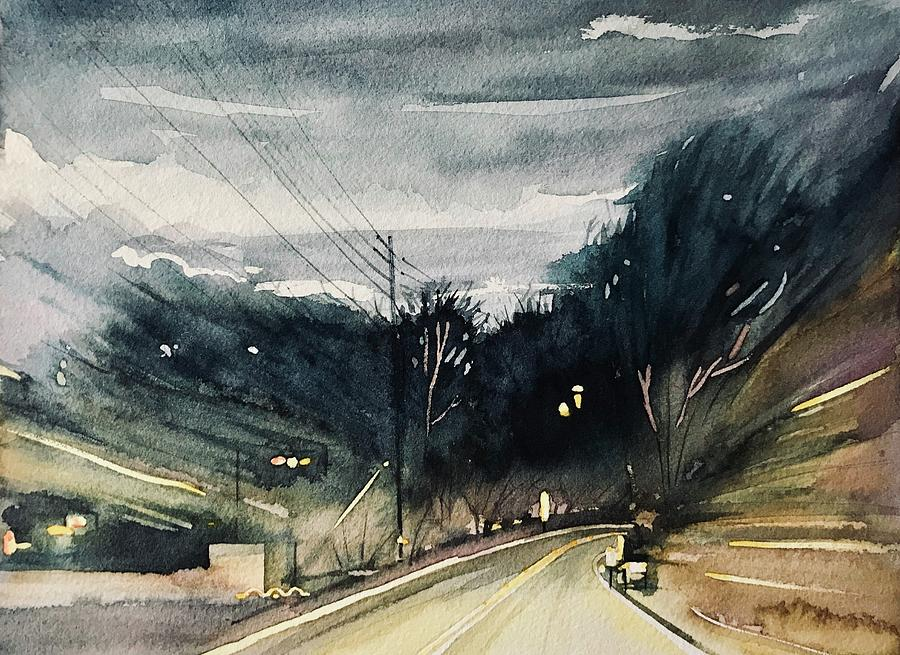 Night Ride Home Painting