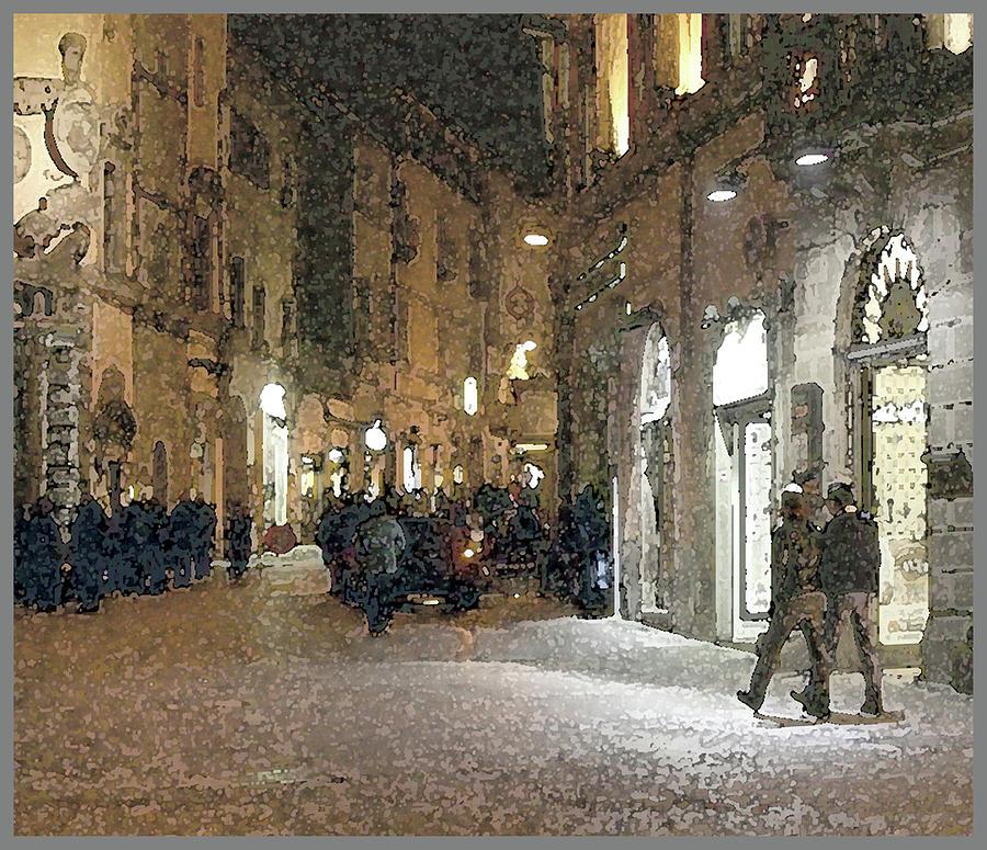 Night Scene-Viterbo by Guy Ciarcia