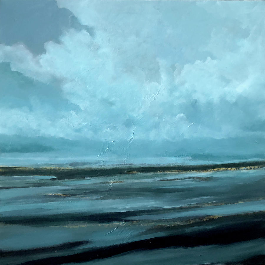 Seascape Painting - Night Sea by Filomena Booth