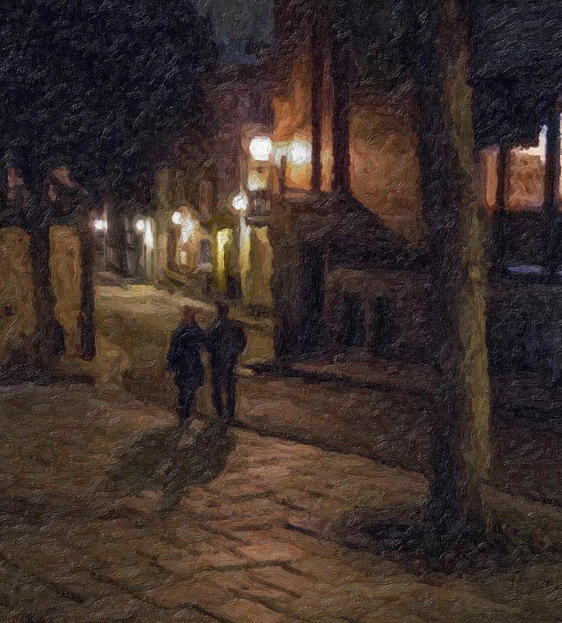 Night Shadows Impasto by David Brookwell