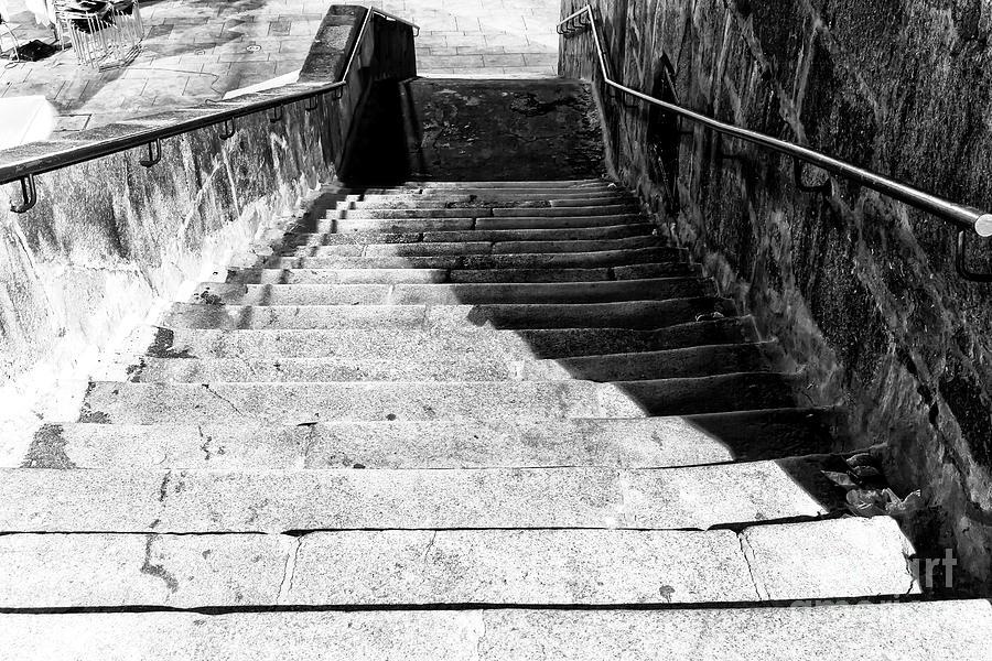 Night Photograph - Night Shadows In Porto by John Rizzuto