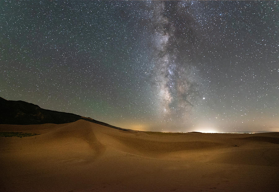 Night Sky Great Sand Dunes National Pakr by Dean Ginther
