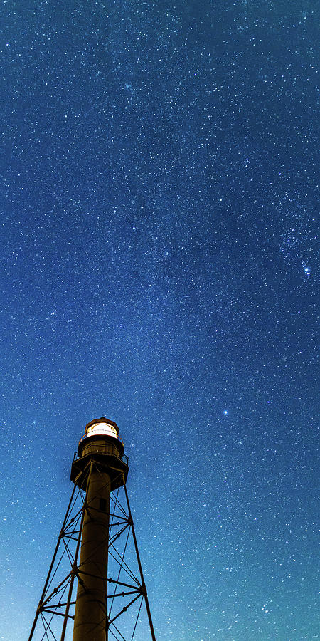 Night Sky over Sanibel Lighthouse by Stefan Mazzola