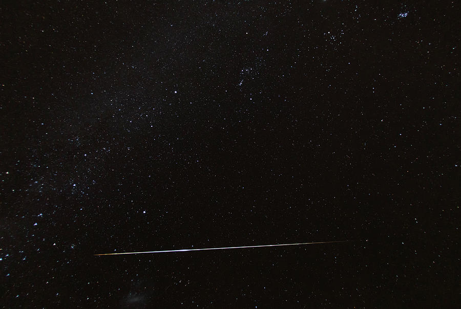 Night Sky With Meteorite, Above Namibia Photograph by Siegfried Layda