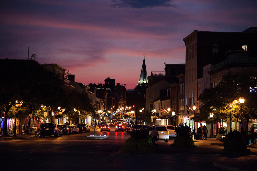 Night Time In Annapolis  by Karol Livote