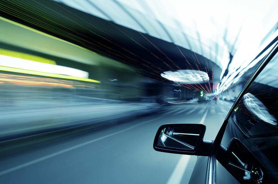 Night Traffic Photograph by Alubalish