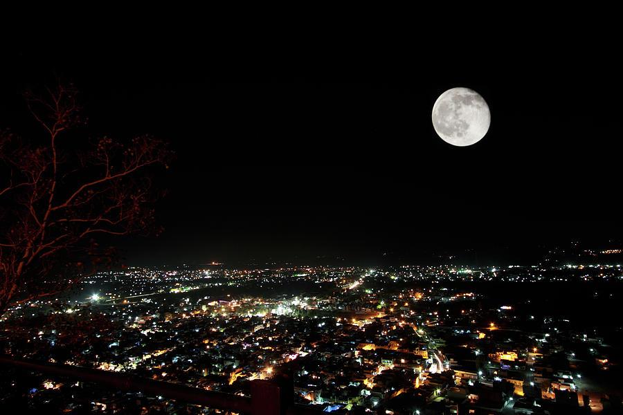 Night View Of Chittorgarh City Photograph by Tarun Chopra