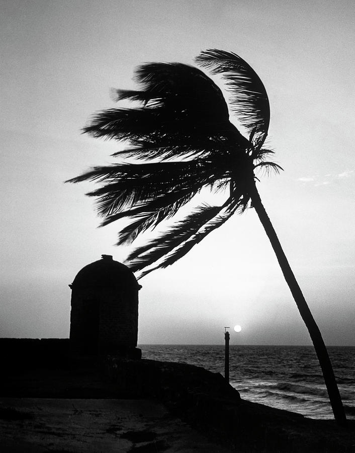 Cartagena Photograph - Night View Of San Felipe Fort by Dmitri Kessel