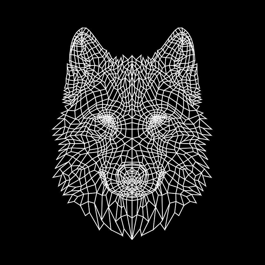 Wolf Digital Art - Night Wolf by Naxart Studio