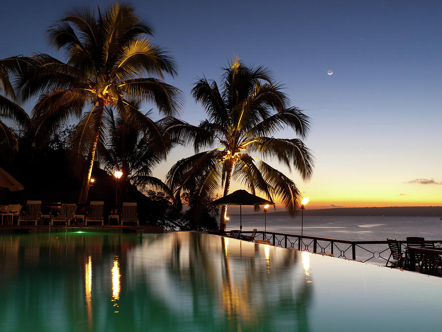 Nightfall At Iririki Island, Vanuatu Photograph by Holgs