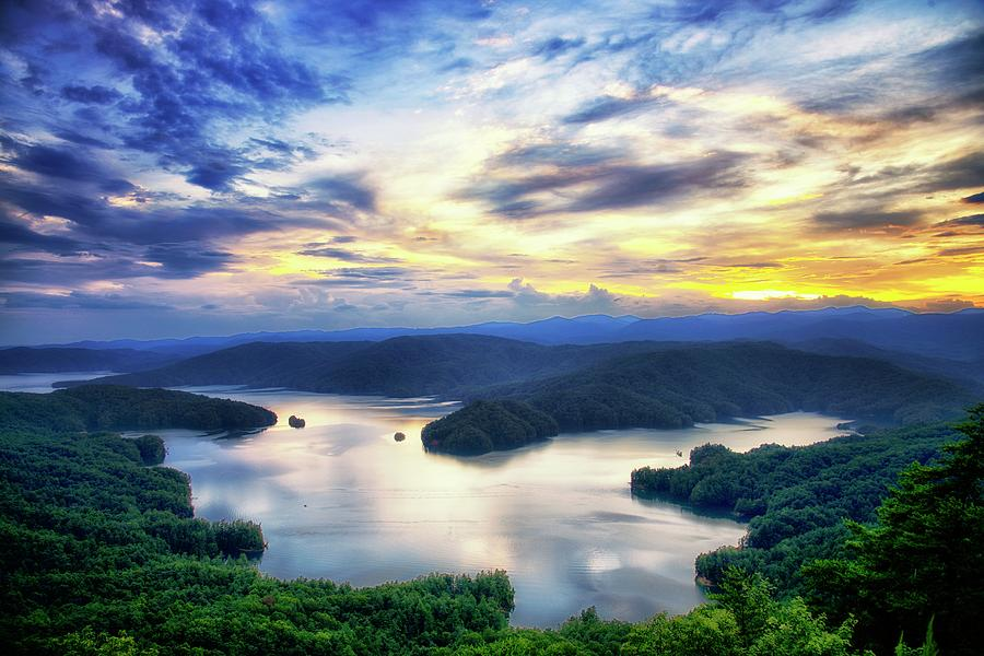 Nightfall Over Lake Jocassee by Blaine Owens Photography