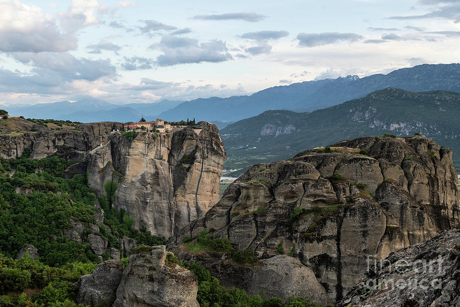 Nightfall over Meteora in Greece by Didier Marti