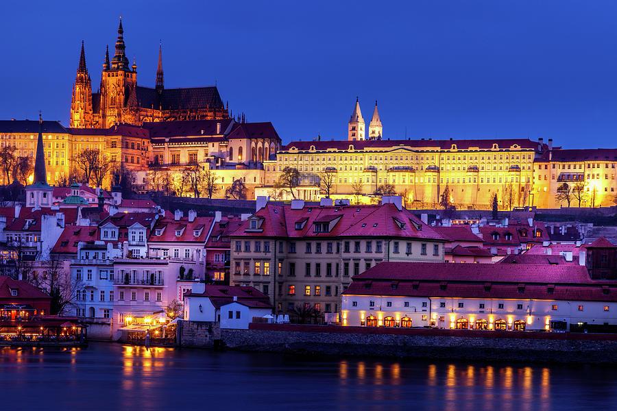 Nightfall Over Prague Photograph
