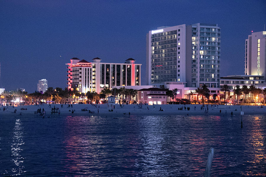 Nightime Gulf Reflections by Linda Ritlinger