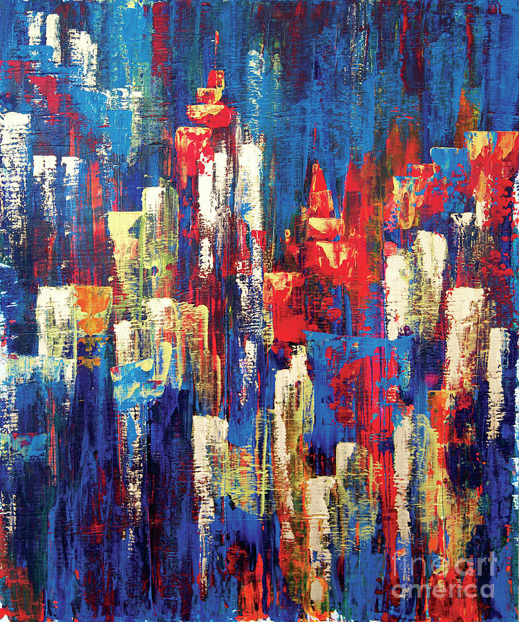 Acrylic Painting - Nightlife Cleveland by JoAnn DePolo