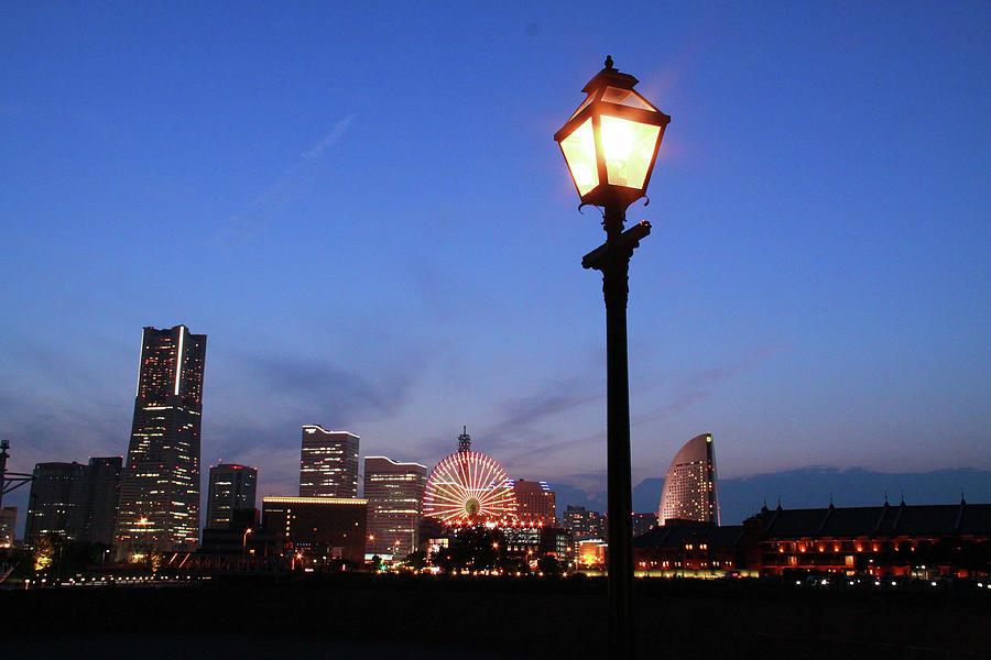 Nightscape Of Minato Mirai Yokohama Photograph by Photography By Zhangxun