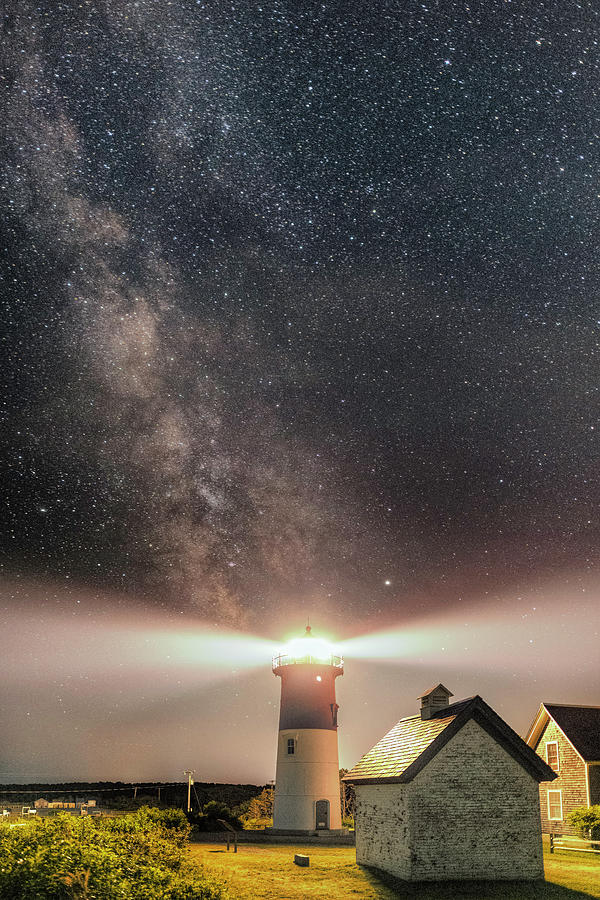 Nightscape Over Nauset Light by Thomas Gaitley